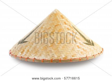 Asian Bamboo Conical Hat