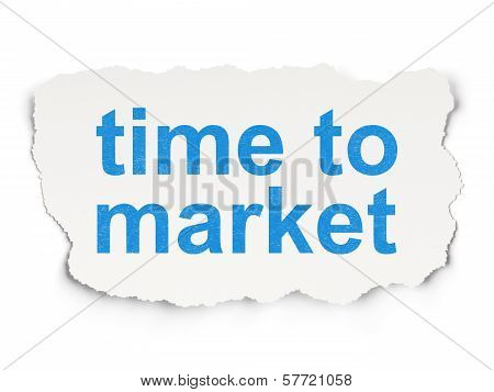 Time concept: Time to Market on Paper background