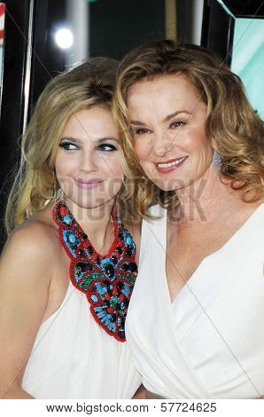 Drew Barrymore and Jessica Lange at the Los Angeles Premiere of 'Grey Gardens'. Grauman's Chinese Theatre, Hollywood, CA. 04-16-09