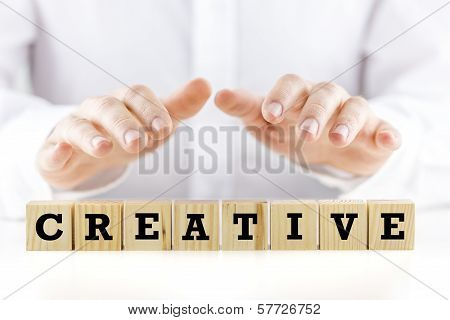 The Word - Creative - On Wooden Blocks