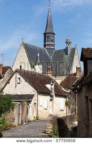 The collegiate church saint of John the Baptist in Monteresor. Loire Valley