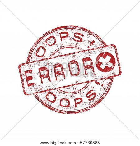 Error rubber stamp