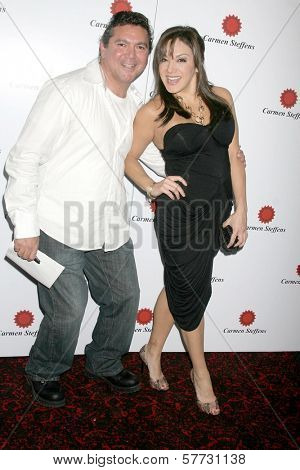 Scott Montoya and Jill-Michele Melean at a Special Screening Of 'The Hot Tamales Comedy Special' presented by Showtime. The FIne Arts Theatre, Beverly Hills, CA. 04-20-09