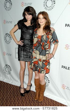 Alessandra Torressani and Magda Apanowicz  at 'Battlestar Galactica-Caprica' presented by the Twenty-Sixth Annual William S. Paley Television Festival. Arclight Cinerama Dome, Hollywood, CA. 04-20-09
