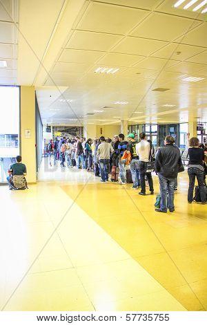 People Queueing, Girona Airport