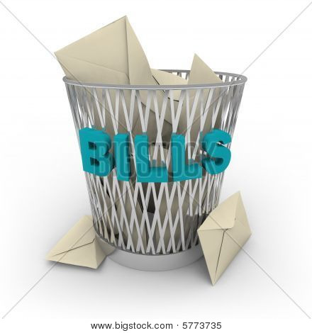Trash Can For Bills