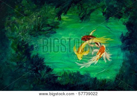 Circling Butterfly Koi