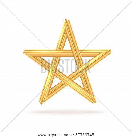 Golden Inconceivable Pentagram