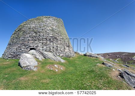 Iron Age Broch At Carloway, Isle Of Lewis, Scotland