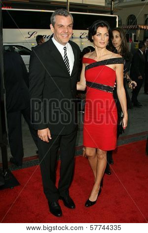 Danny Huston and Lyne Renee  at the Industry Screening of 'X-Men Origins Wolverine'. Grauman's Chinese Theater, Hollywood, CA. 04-28-09