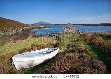 Wooden Boat In The Grass Scotland