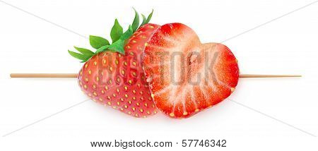 Heart-shaped Strawberries On A Stick