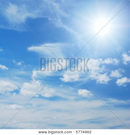 Skyscape With Sun