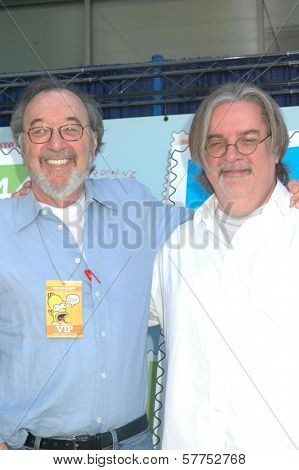 James L. Brooks and Matt Groening  at the ceremony dedicating US Postal Stamps to the Television Show 'The Simpsons'. Twentieth Century Fox, Los Angeles, CA. 05-07-09