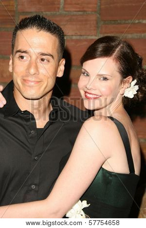 Kirk Acevedo and Kiersten Warren  at the Australians In Film 2009 Breakthrough Awards. Hollywood Roosevelt Hotel, Hollywood, CA. 05-08-09