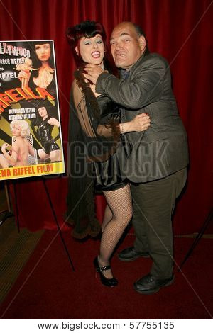 Jade Paris and Irwin Keyes at the Los Angeles Premiere of 'Trasharella'. Lions Gate Screening Room, Santa Monica, CA. 05-09-09