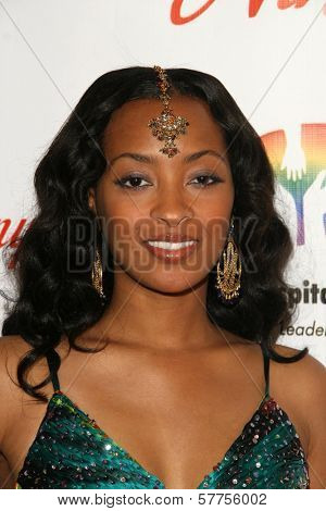 Jennia Fredrique at the 2009 Noche De Ninos Gala. Beverly Hilton Hotel, Beverly Hills, CA. 05-09-09