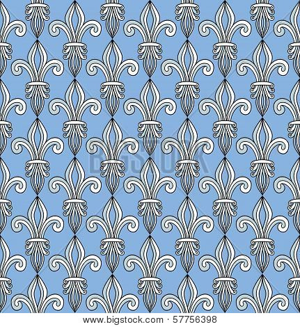 Pattern With Royal Lilies