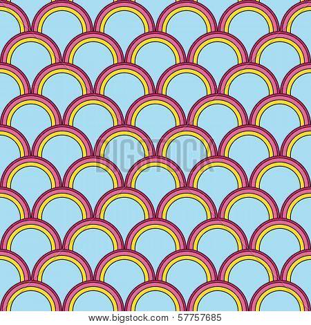 Seamless Bright Geometric Background Imitating Fish Skin