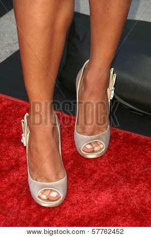Essence Atkins's shoes at the Los Angeles Premiere of 'Dance Flick'. Arclight Hollywood, Hollywood, CA. 05-20-09
