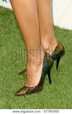 Rosario Dawson's shoes at Global Green USA's 13th Annual Millennium Awards. Fairmont Miramar Hotel, Santa Monica, CA. 05-30-09