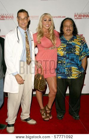 Mike Horner with Mary Carey and Ron Jeremy at the 'Celebrity Pornhab with Dr. Screw' Premiere Party. Les Deux, Hollywood, CA. 06-01-09