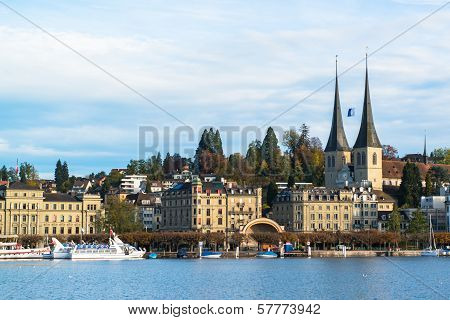 view of old town of Lucerne, Switzerland