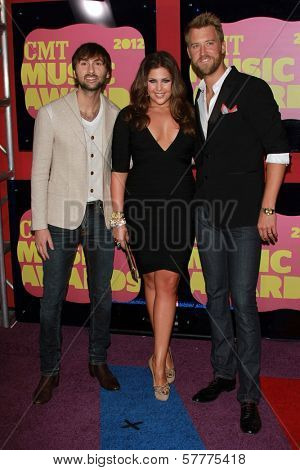 Lady Antebellum at the 2012 CMT Music Awards, Bridgestone Arena, Nashville, TN 06-06-12