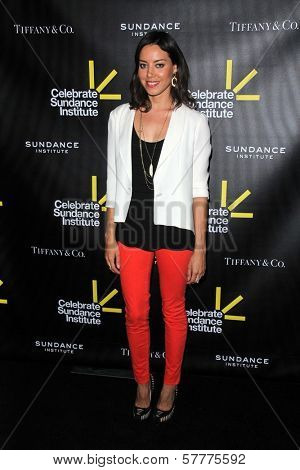 Aubrey Plaza at the Sundance Institute Benefit Presented by Tiffany & Co., Soho House, Los Angeles, CA 06-06-12