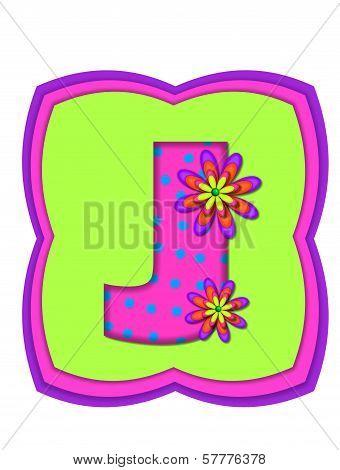 Alphabet Daisy Daze J