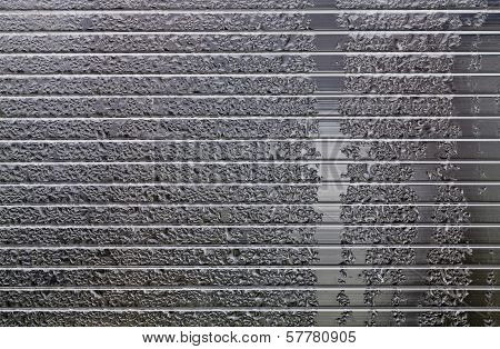 Plastic Background With Water Drops