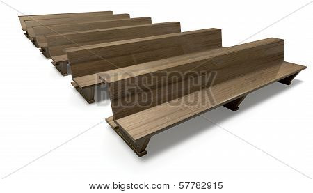 Wooden Church Pews