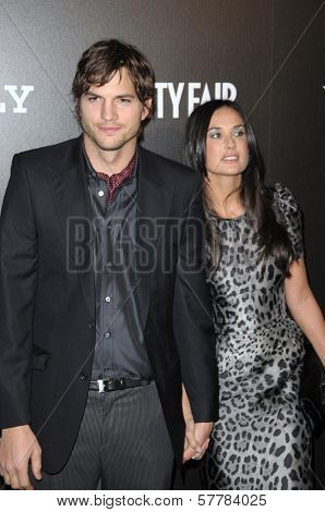 Ashton Kutcher and Demi Moore at Bally's Hollywood Domino Party Benefitting Art Of Elysium. Andaz, West Hollywood, CA. 02-20-09