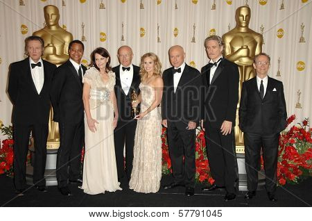 Christopher Walken, Cuba Gooding Jr, Alan Arkin, Kevin Klein and the Ledger Family  in the Press Room at the 81st Annual Academy Awards. Kodak Theatre, Hollywood, CA. 02-22-09