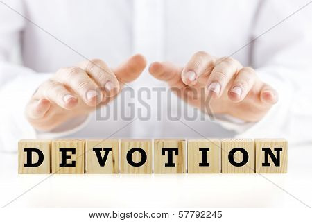 The Word - Devotion - On Wooden Blocks