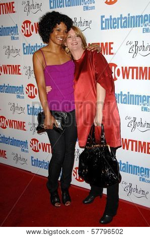 Rose Rollins and Laurel Holloman  at the farewell party for final season of 'The L Word'. Cafe La Boheme, West Hollywood, CA. 03-03-09
