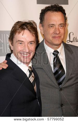 Martin Short and Tom Hanks  at the Annual Backstage At The Geffen Gala. Geffen Playhouse, Los Angeles, CA. 03-09-09