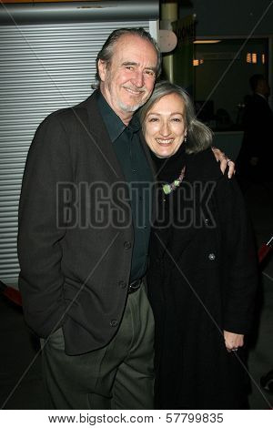 Wes Craven and Iya Labunka  at the Los Angeles Premiere of 'The Last House On The Left'. Arclight Hollywood,Hollywood, CA. 03-10-09