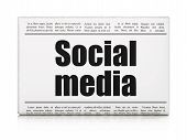 Social network concept: newspaper headline Social Media