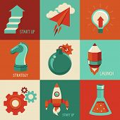 stock photo of bomb  - Vector concepts and icons in flat style  - JPG