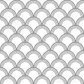 stock photo of lizard skin  - Seamless black and white background imitating fish skin - JPG