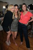 Jennifer Blanc, Sarah Butler, Caitlin Keats on the set of
