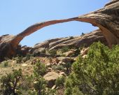 stock photo of arch foot  - Landscape Arch - JPG