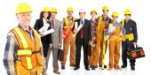 stock photo of factory-worker  - Industrial workers people - JPG