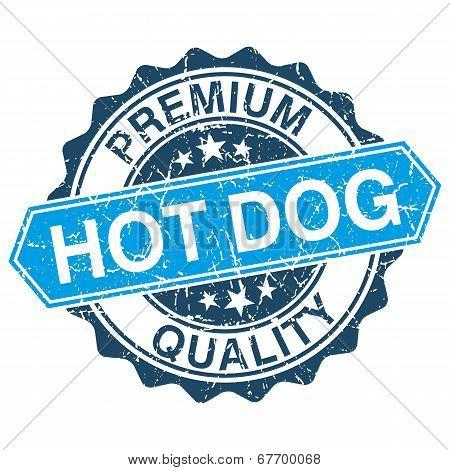 Hod Dog Grungy Stamp Isolated On White Background