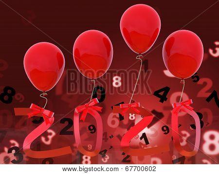 Twenty Twenty Indicates 2020 Year And Celebrations