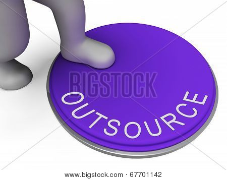 Outsource Switch Represents Control Sourcing And Outsourced