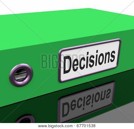 Decisions File Indicates Business Correspondence And Files