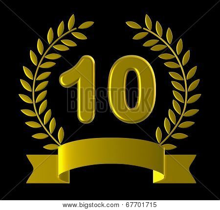 Anniversary Ten Indicates Birthday Party And Anniversaries