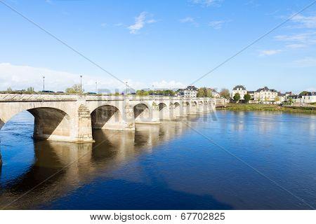 roman bridge in Saumur, France